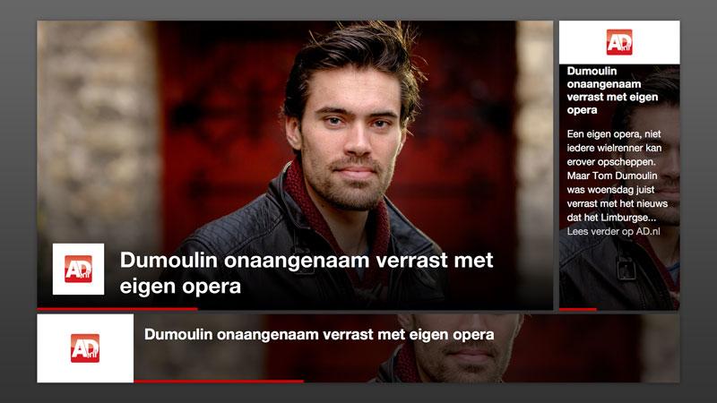 Screenshot van Algemeen Dagblad nieuws widget
